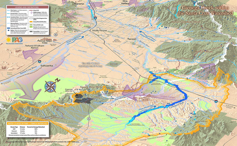 3d Map Of Arizona.Cienegacreekmap 3d Cienega Watershed Partnership