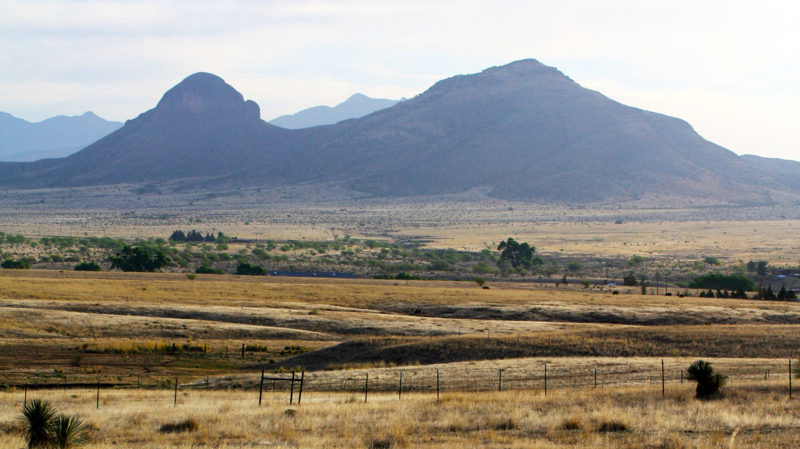 Arroyos and mountains in the Cienega Watershed